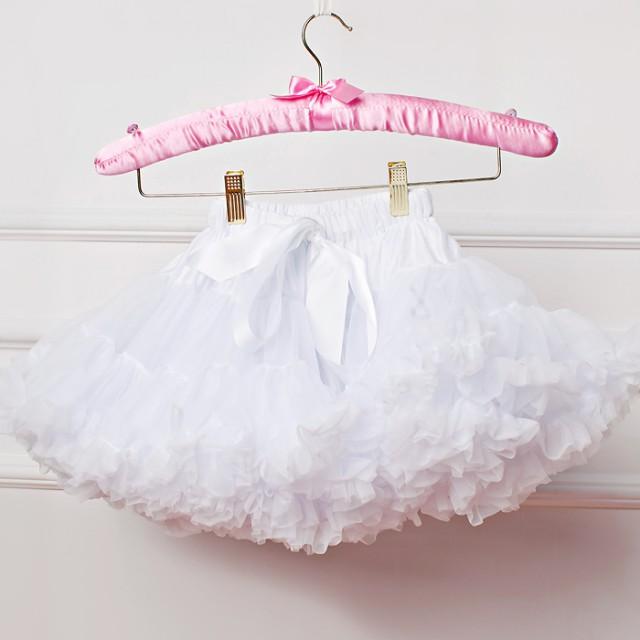 Пышная белая юбка для девочки