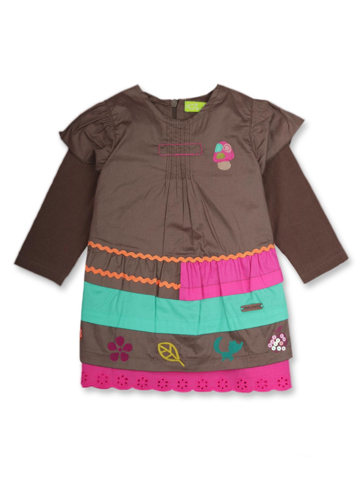 Платье для девочки с рукавом 1